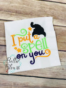 Halloween Embroidery Design - Inspired Sanderson Sisters Embroidery - I put a spell on you