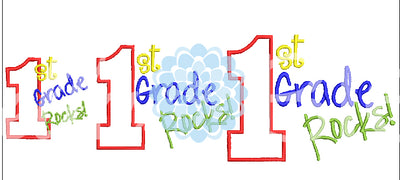 1st First Grade Rocks