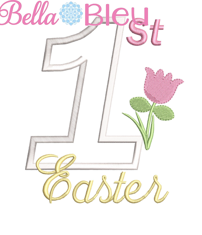 1st Easter - Tulip Applique Embroidery Design SL