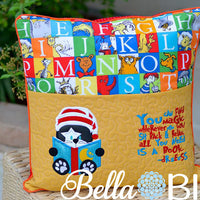 Reading Pillow Quote  Reading is Magic Dr Suess Quote words Saying for Reading pillows