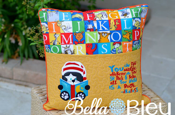 Reading Pillow Quote Reading is Magic Dr Suess Quote words ...