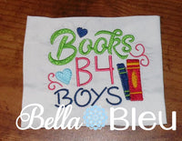Back to School  Books B4 Boys machine embroidery design