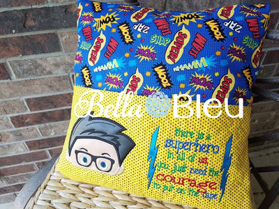 Super Hero Saying Reading Pillow Quote words Saying for Reading pillows