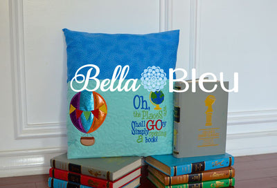 Reading Pillow Quote Inspired Dr Suess Places you will go Quote words Saying for Reading pillows with World Globe