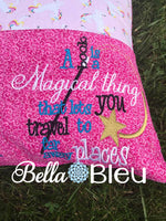 Magical Place Saying Reading Pillow Quote words Saying for Reading pillows