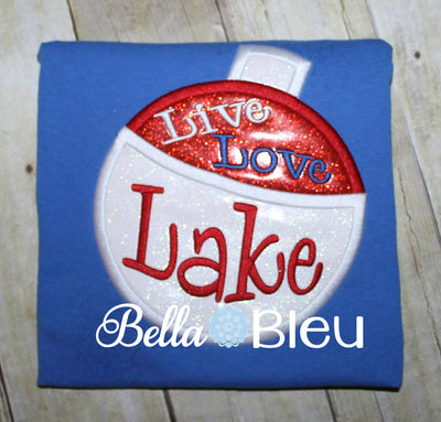 Fishing Fish Bobber Live Love Lake Machine Applique Embroidery design