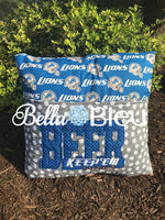Beer keep'em coming Bean Stitch football machine embroidery design