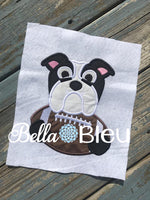 Bulldogs Football Mascot, Dawgs Football Mascot Applique machine embroidery