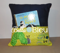 Reading Pillow Quote Caterpillar into a Butterfly Inspirational words Saying for Reading pillows