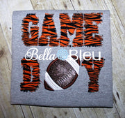 Raggy Game Day with Football Machine Embroidery Applique Design