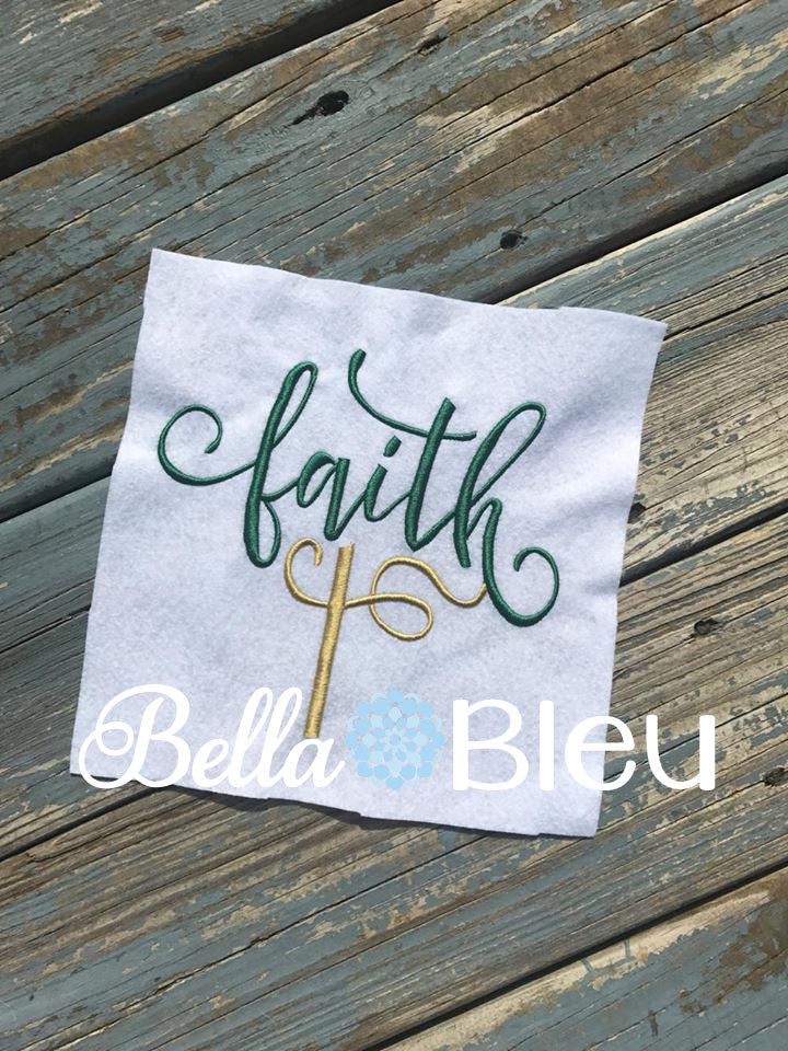 Faith saying with Cross Religious saying Machine embroidery design