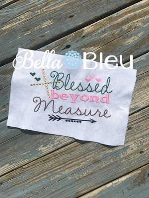 Blessed beyond Measure Machine Embroidery Design