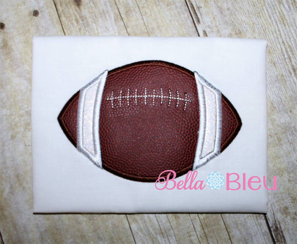 Football with laces Machine Embroidery Applique Design