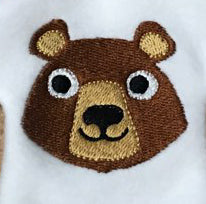 Bear Mascot Mini Machine Filled Embroidery Design