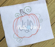 Beautiful Bean Stitch Fall Pumpkin Bean stitch monogram frame