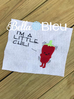 Little Chili Funny Saying Machine Embroidery Applique Design