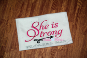 She is Strong Proverbs 31.25 Machine Embroidery Saying design