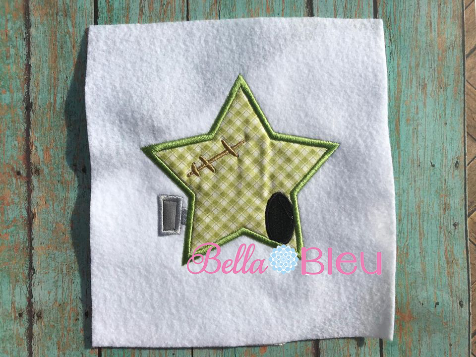 Star Frankie Frankenstein Machine Embroidery Applique Design