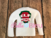 Elf Patrol Inspired Paw Patrol Elf Shirt Sweather ith machine embroidery design