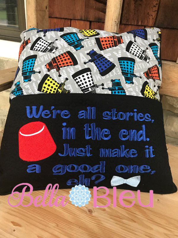 Inspired Dr Who Reading Pillow Saying 7x11
