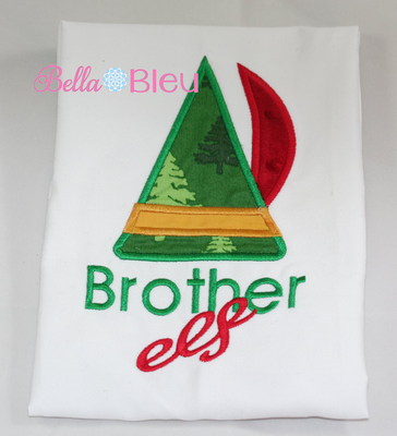 Brother Elf Christmas Machine Applique Embroidery Design