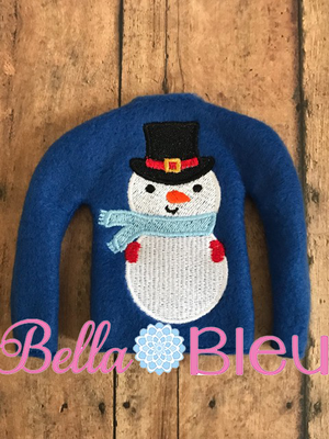 ITH Snowman Frosty Elf sweater shirt machine embroidery design