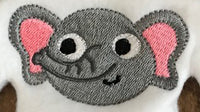 Elephant Mini Sports Mascot Machine Embroidery Design
