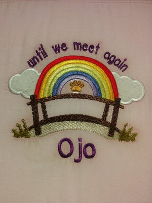Until we Meet again Dog Cat Memorial Machine Embroidery filled design 5x5