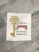Life is a Journey Ornamental Key Saying