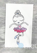 Sketchy Ballerina Ballet Girl Machine Embroidery design