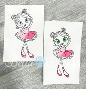 Sketchy Ballerina Ballet Machine Embroidery design