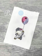 Baby Lamb Sheep with Balloon Sketchy Color Blend design