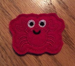 ITH Crab Feltie Machine Embroidery Design SL