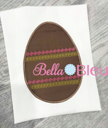 Easter Egg Box Chain Applique Embroidery Design SL