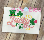Lucky Me St Patricks Saying Machine Embroidery Design