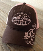 Just a Small Town Girl Baseball Cap Hat Machine embroidery design