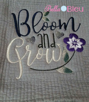 Bloom & Grow Floral Flowers Garden Sketchy Embroidery Design
