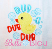 Nursery Rhymes Rub a dub dub baby sketchy duck machine embroidery design
