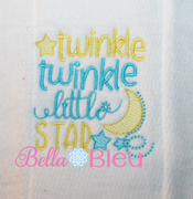 Nursery Rhymes Twinkle Twinkle Little Star sketchy Machine Embroidery design