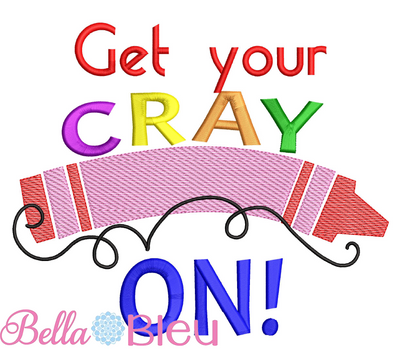 BTS Back to School Get your Cray On Crayon sketchy 5x5