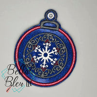 Christmas Ornament Machine Applique Embroidery design