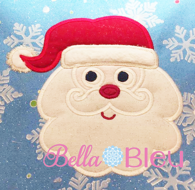Christmas Santa Claus face Machine Applique Embroidery Design
