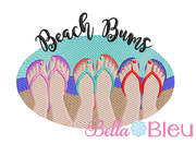Sketchy Beach Bums Machine Embroidery 5x7