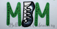 Irish Step Dancing Mom Machine Embroidery Applique Design