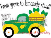 "Lemonade Truck ""From grove to lemonade stand"" Sublimation png file"