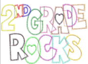 2nd Second Grade Rocks Girls Zig Zag