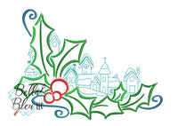Christmas Village #4 Machine Embroidery Design