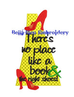 Inspired Wizard of Oz Yellow Brick Road Reading Pillow quote saying machine embroidery design