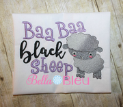 Baa Baa Black Sheep Nursery Rhymes Sketchy Machine Embroidery design