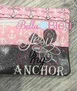 ITH Anchor Jesus is my Anchor Wallet Machine embroidery design